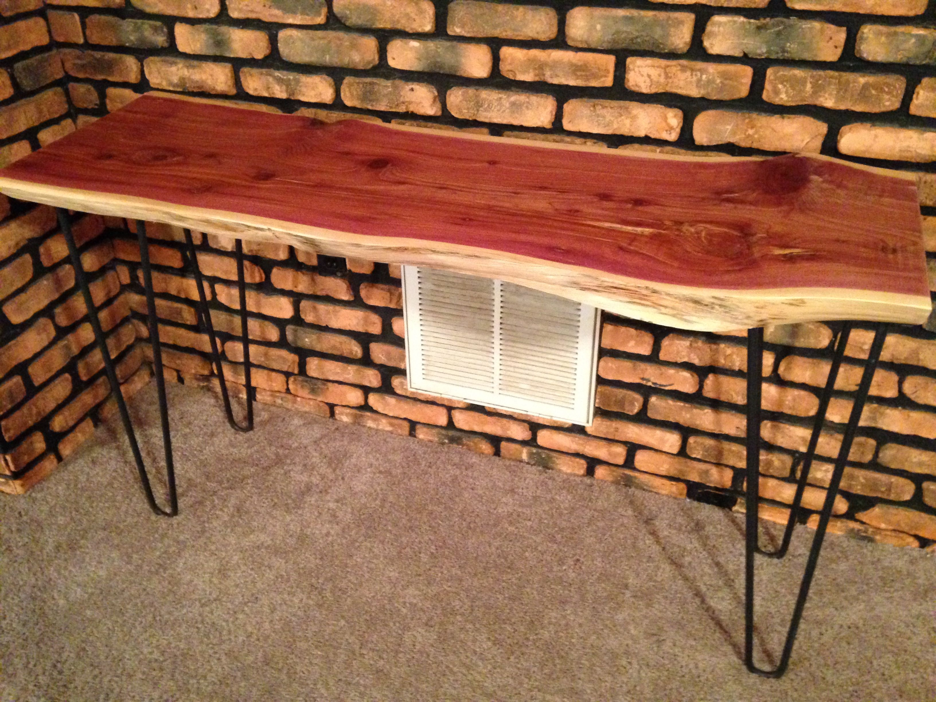 Buy Handmade Live Edge Cedar Sofa Console Table With