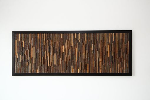 "Custom Made Reclaimed Wood Wall Art 37""X14-1/2""X1"""