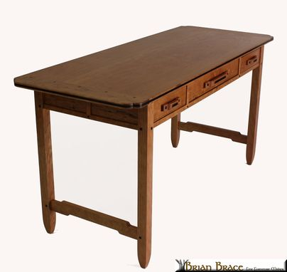Custom Made Greene And Greene Desk (Cherry And Ebony)