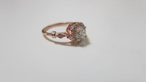 Custom Made Antique Halo Engagment Ring
