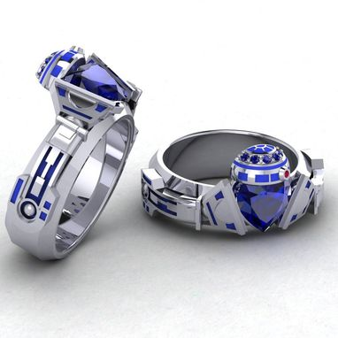 Custom Made R2 Claddagh Ring, Geek Jewelry