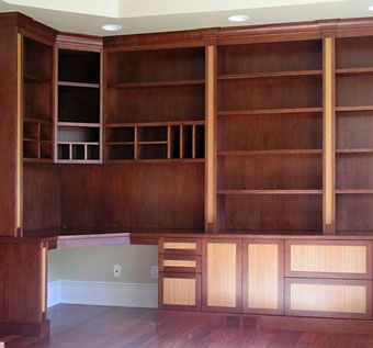 Custom Made Mahogany Home Office And Library