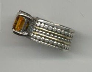Custom Made 14 K Sterling And Citrine Ring