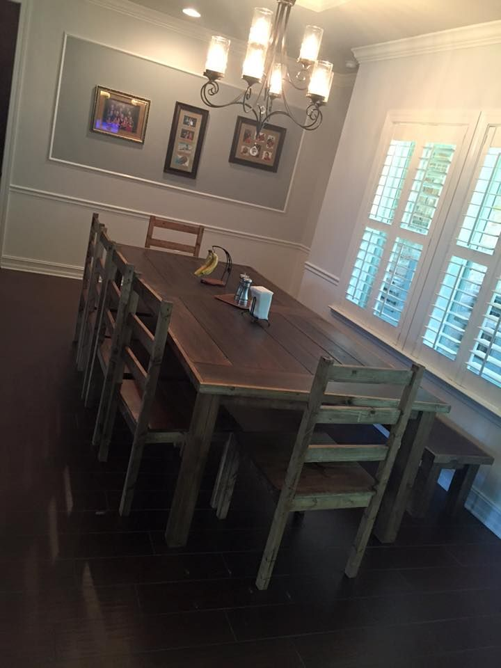 Custom Made Reclaimed Farm Table Chairs And Bench 8ft To 20ft