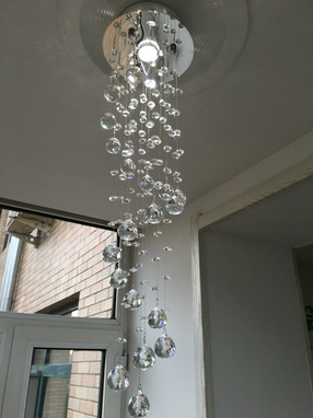 Custom Made Modern Spiral Crystal Led Chandelier Ceiling Light