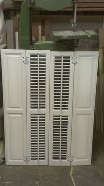 Custom Made Interior Shutters
