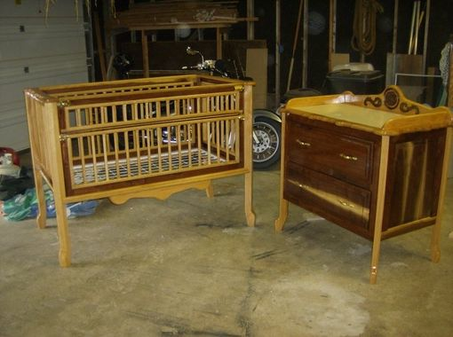 Custom Made Crib And Changing Table