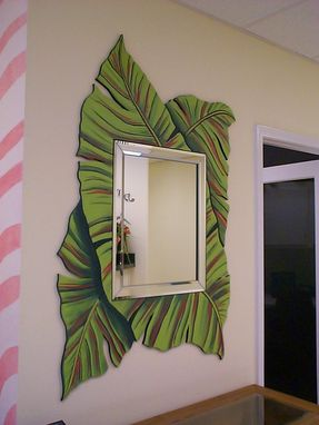 Custom Made Banana Leaf Mirror
