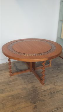 Custom Made Round Mosaic Table