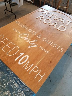 Custom Made Engraved Hardwood Signs