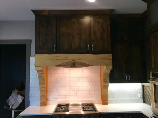 Custom Made Hickory Range Hood