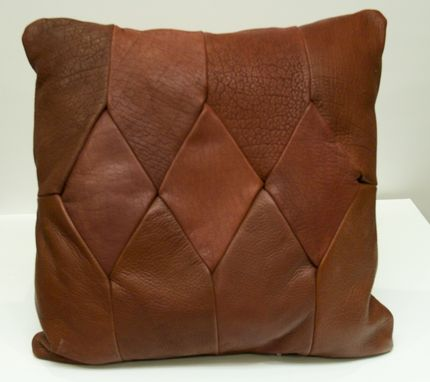 Custom Made Leather Pillow