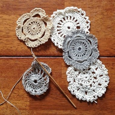 Custom Made Small Scale Crocheted Doilies & Coasters