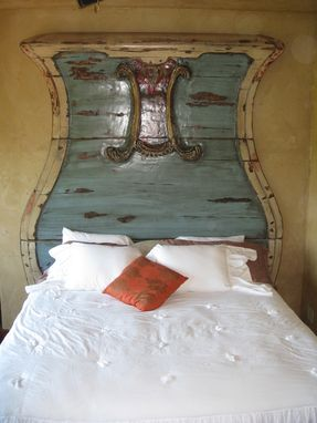 Custom Made Distressed Built-In Head Board