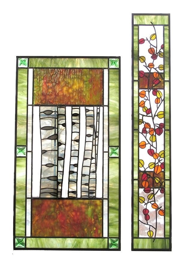 Handmade Aspen Trees And Leaves Stained Glass by Painted Light ...