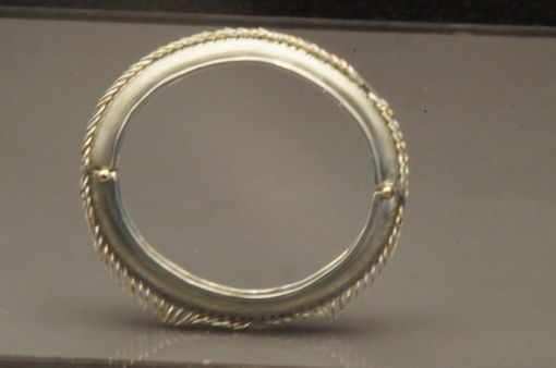 Custom Made Sterling And14kt Gold Bangle Bracelet And Matching Earrings