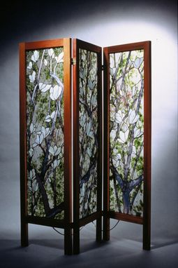 Custom Made Chinese Magnolia Screen
