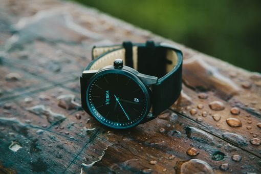 Custom Made Beautiful Minimalist Black Watch By Vierra (Lifetime Warranty)