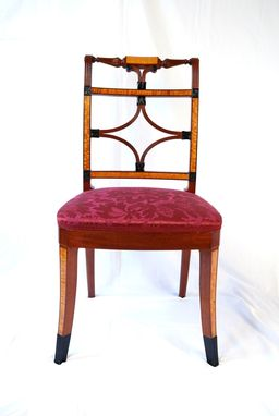 Custom Made Federal Period Scroll Back Chair