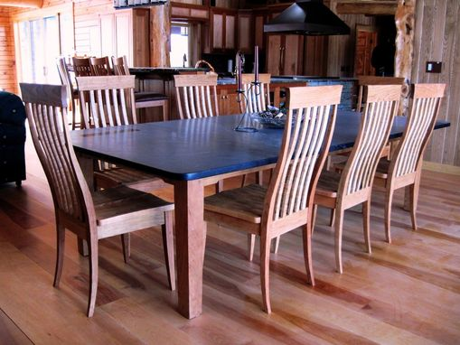 "Custom Made Cherry ""Swept Back(Tm)"" Dining Chairs"