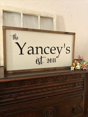 Custom Made Personalized Farmhouse Last Name Wedding Sign