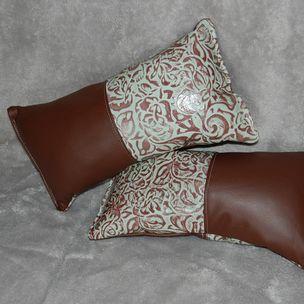 Custom Leather Throw Pillows : Natalie Carroll: Bar C Saddlery Wildwood, FL