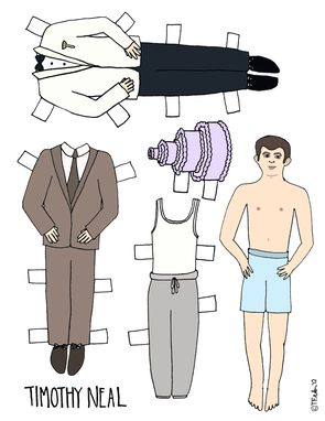Custom Made Personalized Paper Dolls