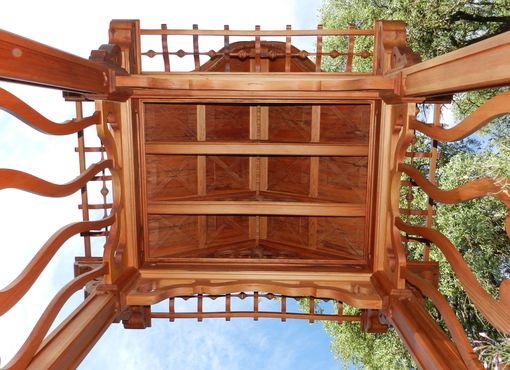 Custom Made Hand Crafted Wood Arbor Is Truly An Art Aficionado's Dream...