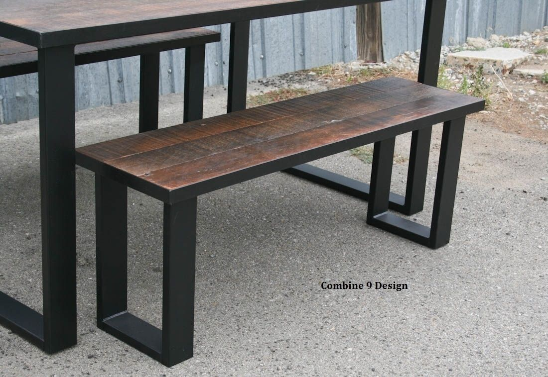 Awe Inspiring Buy A Handmade Reclaimed Wood Bench Made Of Steel And Gmtry Best Dining Table And Chair Ideas Images Gmtryco