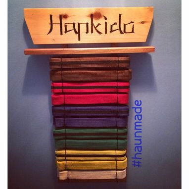 Custom Made Karate Belt Display