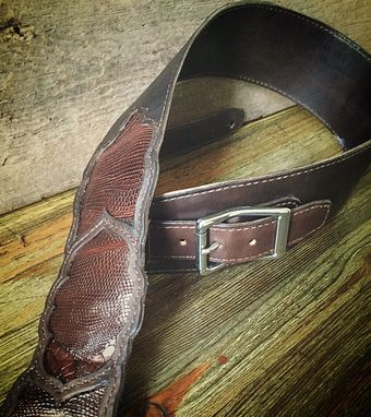 Custom Made Handmade Leather Guitar Strap