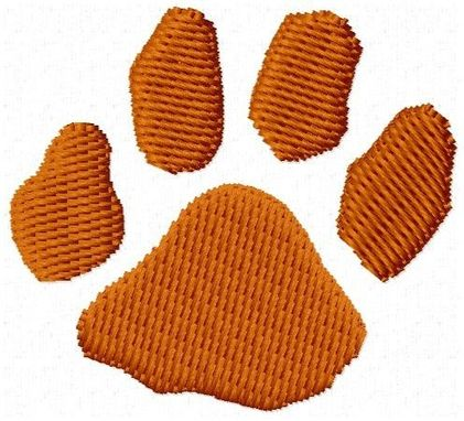 Custom Made Paw Print Embroidery Design
