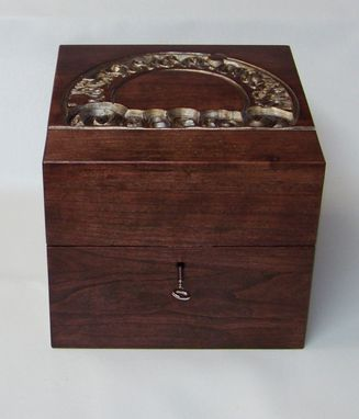 Custom Made Wooden Music Box With Rotating Interior