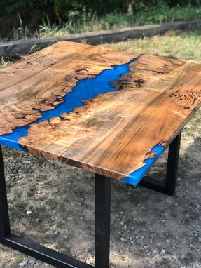 Custom Made Maple Burl River Table