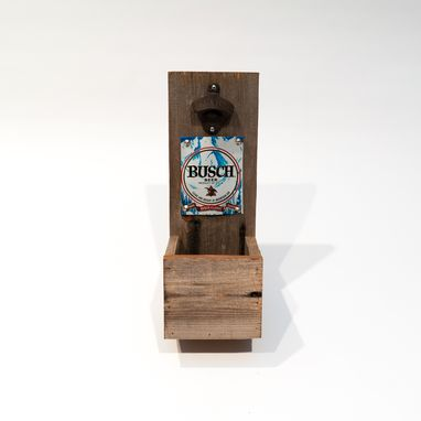 Custom Made Barn Wood Busch Bottle Opener