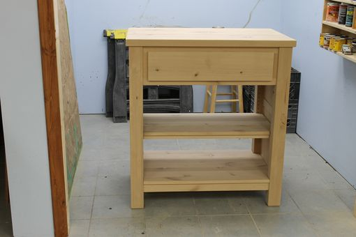Custom Made Solid Wood Kitchen Island