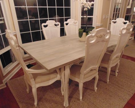 Custom Made Reclaimed Wood French Country Farmhouse Table