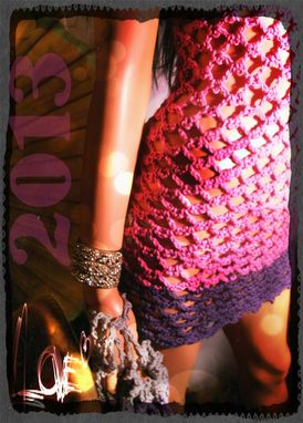 Custom Made Sultry Pink Orchid Crochet Bikini Dress & Little Surprises