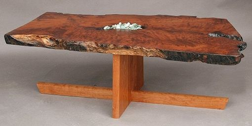 Custom Made Live Edge Coffee Table, Redwood