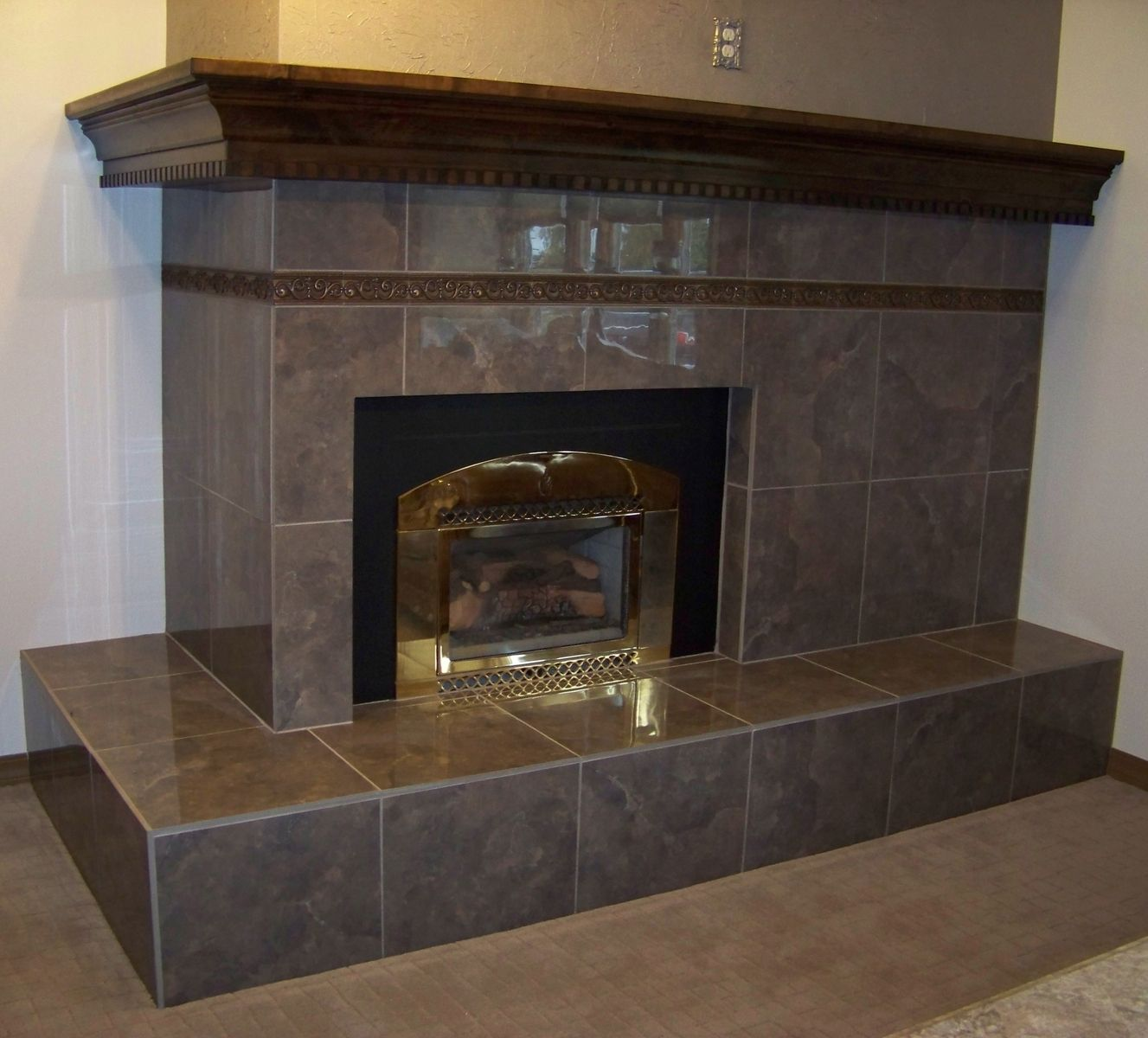 Custom Fireplace Mantle By Palmer Union Design