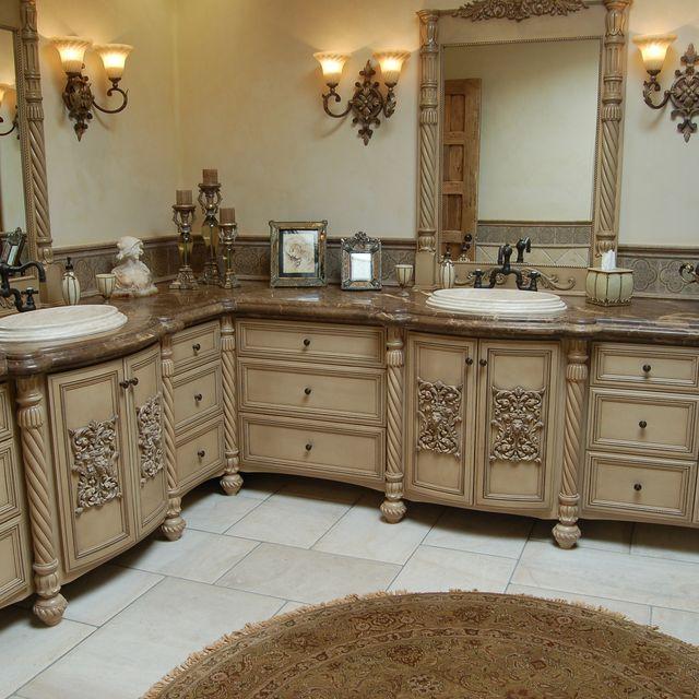 Handmade Custom Faux Finish Master Bathroom Cabinets By Westend - Custom bathroom vanities online for bathroom decor ideas