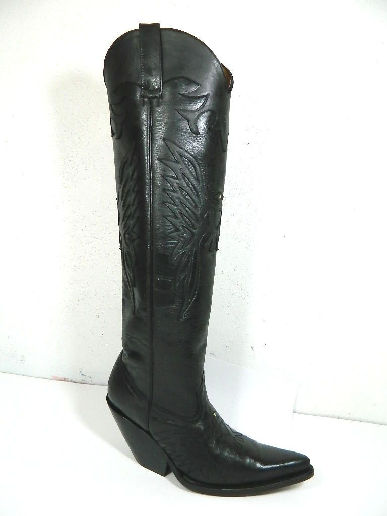 Hand Crafted Riding Boots 18¨Tall Large Calf Woman Size 9 In Stock ...
