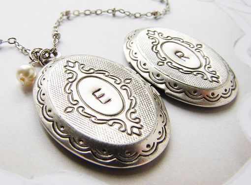 Custom Made Personalized Initial Locket, Bridesmaid Jewelry Wedding Bridal Party Gift