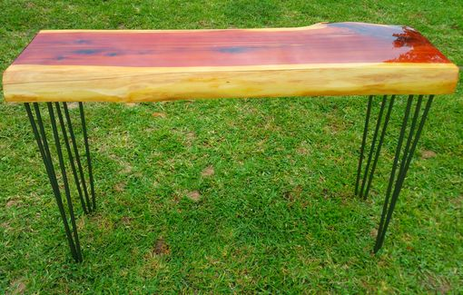 Custom Made Live Edge Cedar Console Table