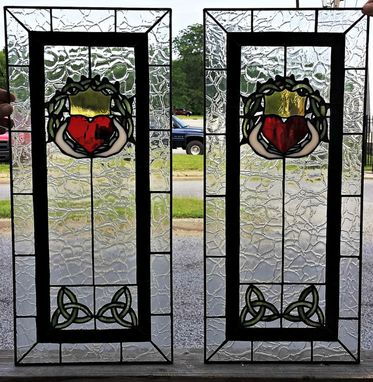"Custom Made Retail Piece - ""Celtic Claddagh Cabinet Inserts"" (R-24)"