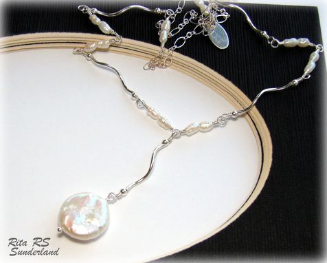 Custom Made Sterling Silver Pearl Necklace