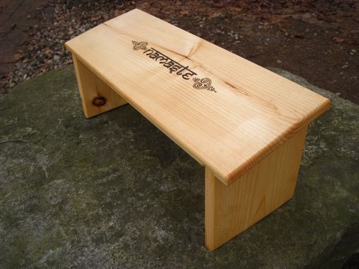 Custom Made Meditation Bench Namaste Embellished