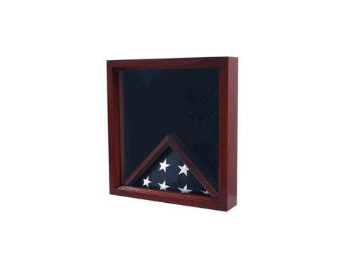 Custom Made Military Flag And Medals Display Case Cabinet