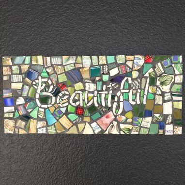 Custom Made Mosaic House Sign - Exterior Home Or Business Sign