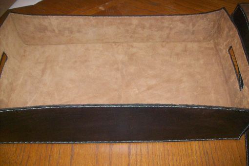 Custom Made Leather Desk Trays
